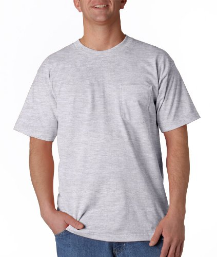 Bayside Mens Union Made Pocket Tee (3015) -Ash (99/1) -4XL ()