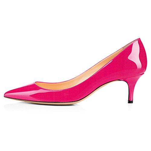 Eldof Pumps Tacchi Da Donna | Stiletto A Punta | Scarpe Da Corte Classiche Da 6.5 Cm Rosa