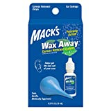 Mack's Wax Away Earwax Removal System - 0.5 FL OZ Ear Drops with Ear Syringe
