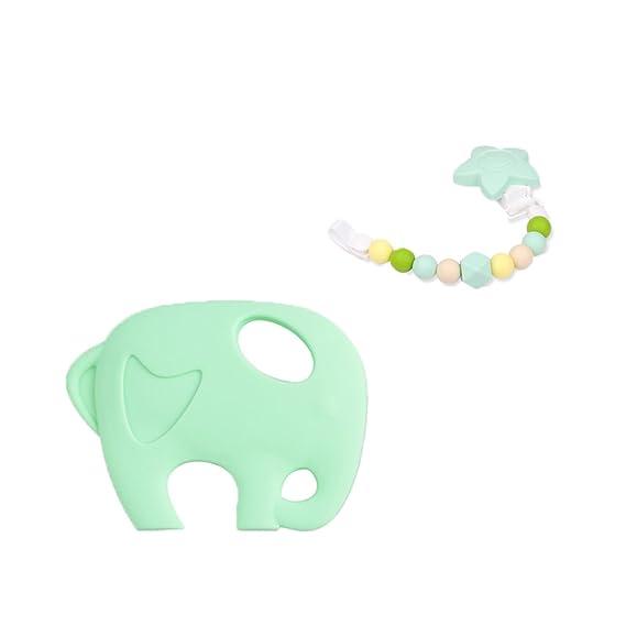 INCHANT bebé elefante de silicona enfermería juguete ...