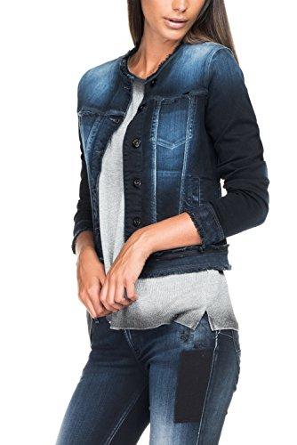 Salsa - Veste en jean foncé avec de gros boutons - Femme