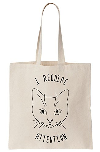 Canvas Selfish Face Cat Require Bag Attention Pet Tote tqX4f48wx