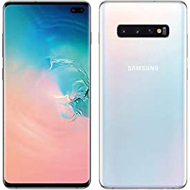 Samsung Galaxy S10+ Plus 128GB+8GB RAM SM-G975F/DS Dual Sim 6.4″ LTE Factory Unlocked Smartphone International Model No-Warranty (Prism White)