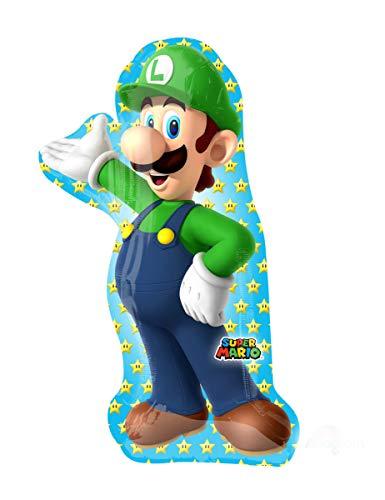 Mario Brothers Luigi Super Shape Foil Balloon]()