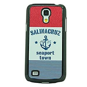 LIMME- Navy Leather Vein Pattern Hard Case for Samsung Galaxy S4 Mini I9190