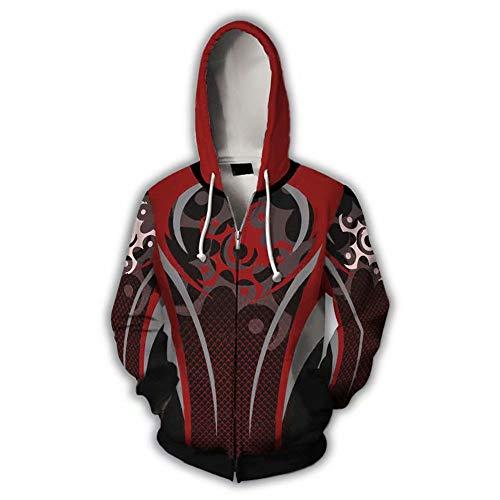 Rainbow Hoodie 3D Printed Hooded Pullover Sweatshirt Jacket (Small, Zip 1)