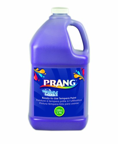 Prang Ready-to-Use Washable Tempera Paint, 1 Gallon Bottle, Violet (10606)