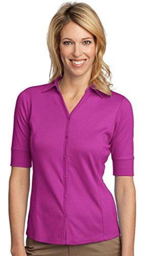 port-authority-womens-wrinkle-resistant-button-front-sport-shirt-bright-berry-medium