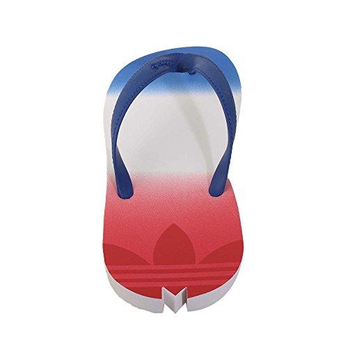 adidas Originals Chanclas de Material Sintético Para Mujer Blanco/Azul/Rojo 38