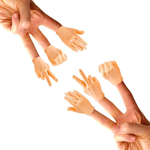 - Daily Portable LLC Tiny Hands (Rock, Paper, Scissors) - 6 Pack - Fist Bump, Peace Sign, and High Five Mini Hand Puppet