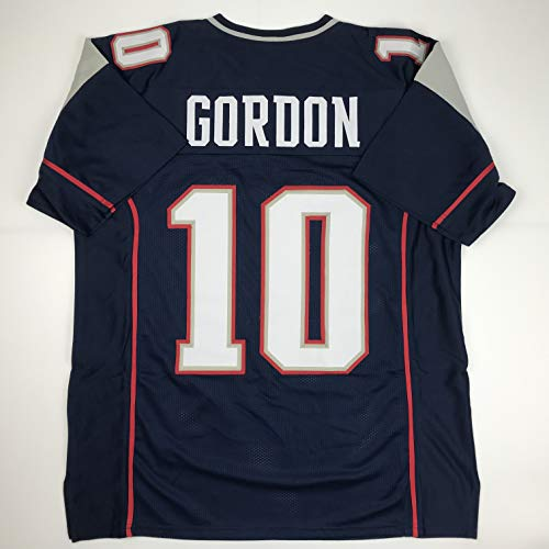 Unsigned Josh Gordon New England Blue Custom Stitched Football Jersey Size XL New No Brands/Logos