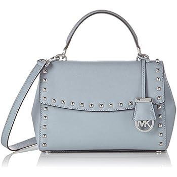 e50ec2c6bd1d MICHAEL Michael Kors Women's Ava Stud Small Top-Handle Satchel Dusty Blue  Handbag
