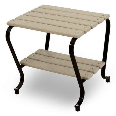 Ivy Terrace Side Table Color: Black/Sand