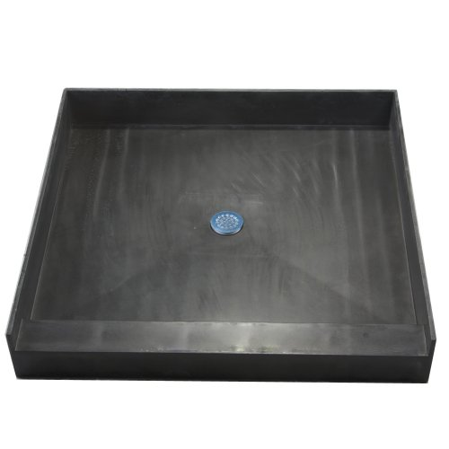 Tile Redi Shower Pan (Tile Redi 3636C-PVC Single Curb Shower Pan with Integrated Center PVC Drain, 36-Inch Depth by 36-Inch Width)