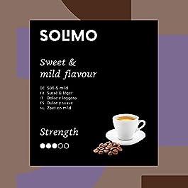 Marca Amazon – Solimo Cápsulas Lungo, compatibles con Nespresso – café certificado UTZ, 100 cápsulas (2 x 50)