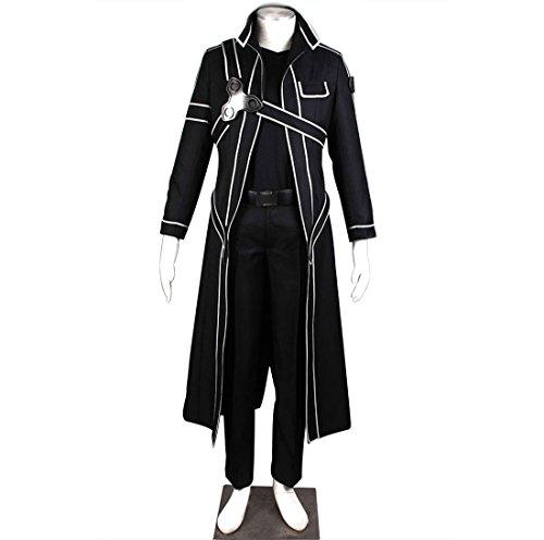 AnotherMe SAO Sword Art Online Anime Kirito Jacket Coat Cosplay Suit Costume - Anime Cosplay Costume Online