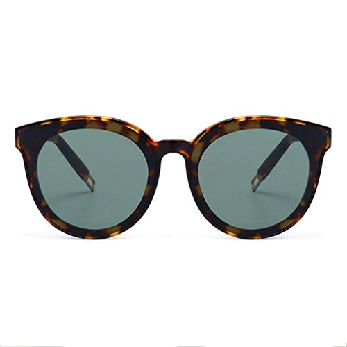 Redondas Gafas de GM Color Mujer Stripegreen Hombres Sol de Coreana Plate Sol Negro Moda Marrón Frame Gafas Peter HLMMM xzYwqgHY