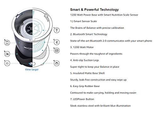NutriBullet Balance, Bluetooth Enabled Smart Blender & Zonoz Premium 5-Piece Silicone Spatula Set (Bundle)