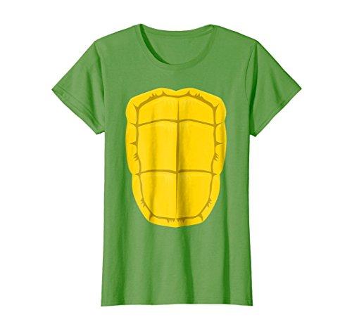 Womens Funny Turtle Shell Halloween Costume Shirt Gift Clever DIY Medium ()