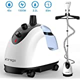 CIRAGO Garment Fabric Steamer with Hanger, Professional Heavy Duty Hanging Clothes Steamer, 2.2 L, 2 Level Steam Adjustment , with Fabric Brush/Anti-scalding Gloves