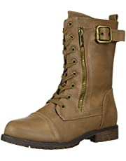DREAM PAIRS Women's Mission Mid Calf Boot