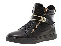 High-Top Sneaker With Round Toe Rhinestone