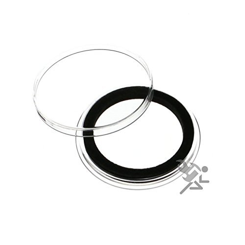 ((15) Air-tite 32mm Black Ring Coin Holder Capsules for 1oz American Gold Eagles and 1oz Gold Krugerrands & Kangaroos)