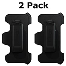 OtterBox Holster Belt Clip for OtterBox Defender Series case - Apple iPhone 5s,5,5c - Made in The USA (Please Read Full item Description) Non-Retail Packaging (Black 2-Pack)
