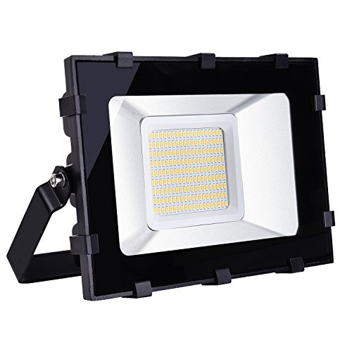 Viugreum 100W LED Outdoor Flood Lights, Waterproof IP65, 12000LM, Warm White(2800-3200K), Landscape Spotlights, Super Bright Security Lights, for Garden, Yard, Warehouse, Square, Billboard, - By Warehouse Spotlight