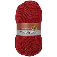 Lion Brand Yarn 671-113 Lion's Pride Woolspun Yarn, Red