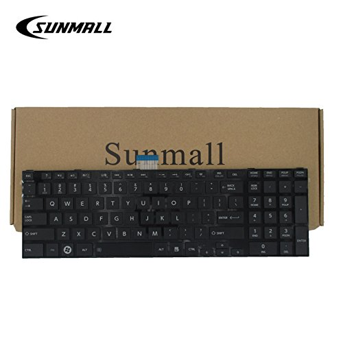 SUNMALL Laptop Keyboard replacement (WITH FRAME) for Toshiba Satellite c850 c855 c855d l850 l855 c875 c875d l875d p850 p855 p875d Black US Layout(6 Months Warranty) (Replacement Toshiba Key)