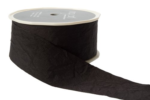 May Arts 1-1/2-Inch Wide Ribbon, Black Solid by May Arts