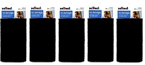 Scunci Effortless Beauty Large No-damage Elastics, 4 MM (150 pieces)