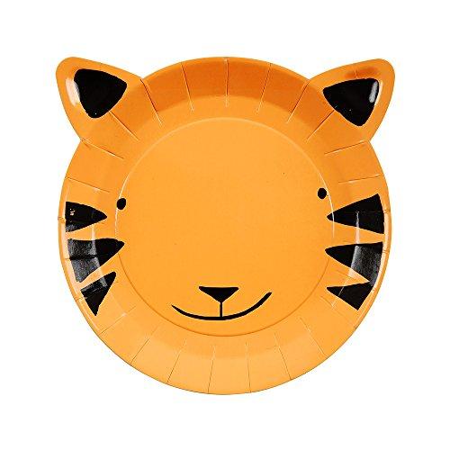 Meri Meri Go Wild Tiger Plates Small ()