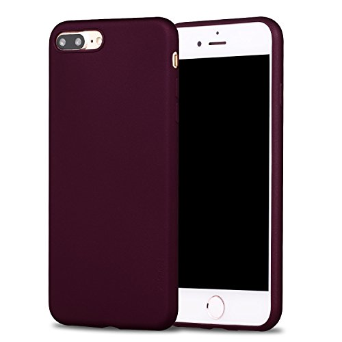 Price comparison product image iPhone 7 Plus Case,X-level Guardlan Series Soft TPU Back Cover Phone Case for iPhone 7 Plus(2016) 5.5'' (Wine Red)
