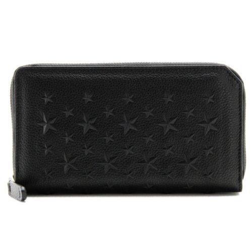 Jimmy Choo(ジミーチュウ) 財布 メンズ カーフスキン ラウンドファスナー長財布 ブラック CARNABY-EMG-0001[並行輸入品] B00ENTU3A6