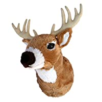 "ADORE 13"" Boone the Whitetail Deer Plush Stuffed Animal Walltoy Wall Mount"
