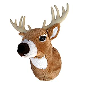 "ADORE 13"" Boone the Whitetail Deer Plush Stuffed Animal Walltoy Wall Mount - 413VqNkuZXL - ADORE 13″ Boone the Whitetail Deer Plush Stuffed Animal Walltoy Wall Mount"
