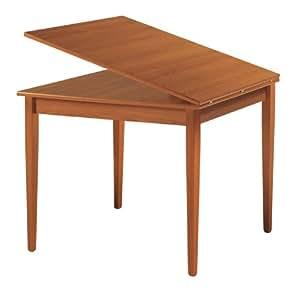 Mesa paisa 90 x 90 cm extensible de tipo libro de 180 color cerezo hogar - Mesa extensible color cerezo ...
