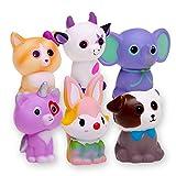 FORTON Kawaii Slow Rising Squishy Toys Animals Unicorn Cat Dog Cow Fox Elephant Squishies Pack of 6