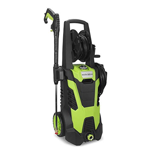 Arksen 3000 PSI 1.7 GPM 14.5 AMP Electric Pressure Washer with (5) Nozzle Adapter with Hose Reel, Green (Used Paint Sprayers For Sale By Owner)