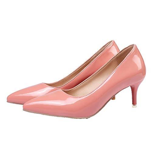 Rosa Luccichio Tirare Tacco Ballet Puro Medio Donna GMMDB006043 Flats AgooLar 4PqWZvz5E5