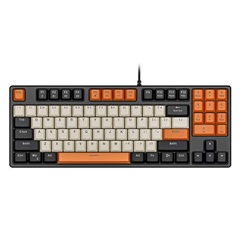 Havit Mechanical Keyboard Wired 89 Keys Gaming Keyboard Red Switch Keyboard with PBT Keycaps for PC Gamer Computer
