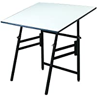 Alvin MODEL X-3-XB Professional Table, Black Base White Top 24 inches x 36 inches