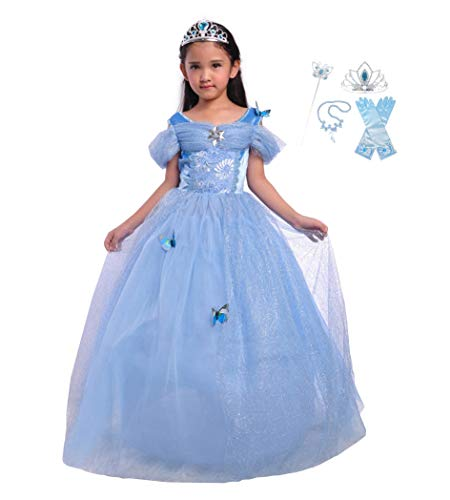 Lito Angels Girls Princess Cinderella Dress up Costume