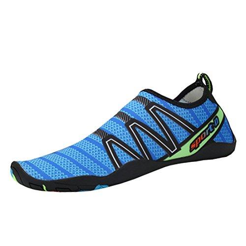 d4fefe31ff6374 Cool D Aquaschuhe Aqua Schuhe Wasserschuhe Atmungsaktiv Strandschuhe  Schwimmschuhe Badeschuhe Surfschuhe für Damen Herren Kinder Blau