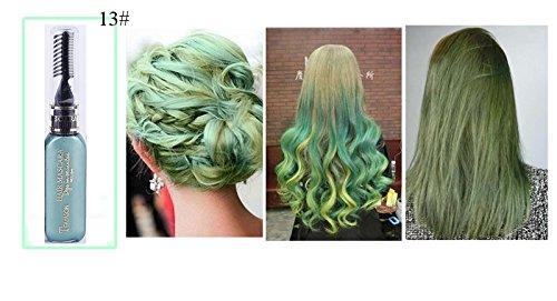 13 Colors One-time Hair Color Hair Dye Temporary Non-toxic DIY Hair Color Mascara Dye Cream Blue Grey Purple (13#) by Bao Te'