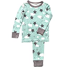 Silkberry Baby Bamboo Pajama Set Mint Star 18M-2T