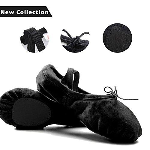 Ballet Shoes Canvas Ballet Slipper Yoga Dance Shoe Ballet Flats for Girls...