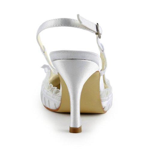 A31b11 Wedding da sposa per donna Scarpe Scarpe sposa bianca Jia da BqS5fxBw